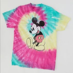 Urban Outfitters Tie Dye Mickey Tee
